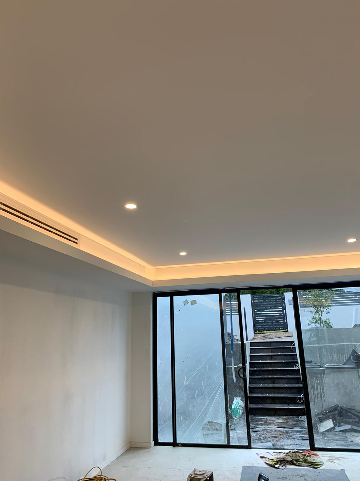LED Strip lighting ydney justflow electrical installing recessed ceiling led lights for new home