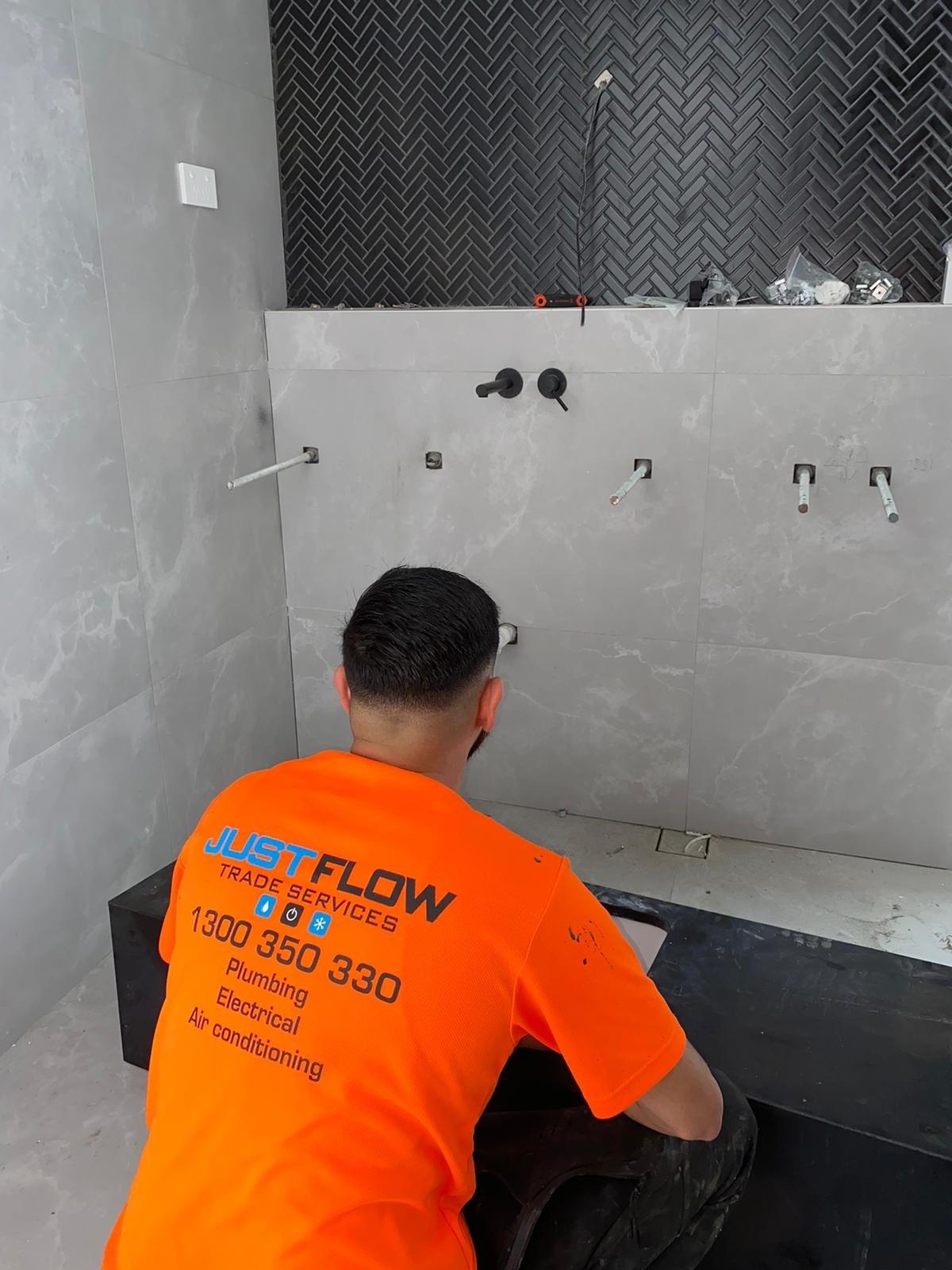 Justflow Plumbing Services Bathroom vanity Installations Tap Mixer installation