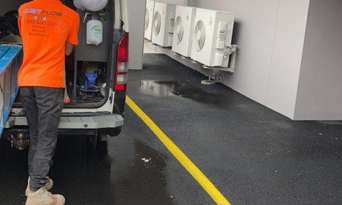 Justflow Air Con Service maintenance near me Sydney Parramatta Moorebank NSW